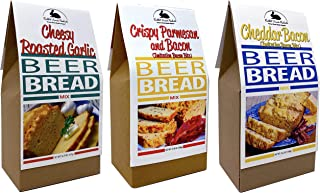 Rabbit Creek Beer Bread Mix Variety Pack - Cheddar Bacon, Cheesy Roasted Garlic & Crispy Parmesan Bacon