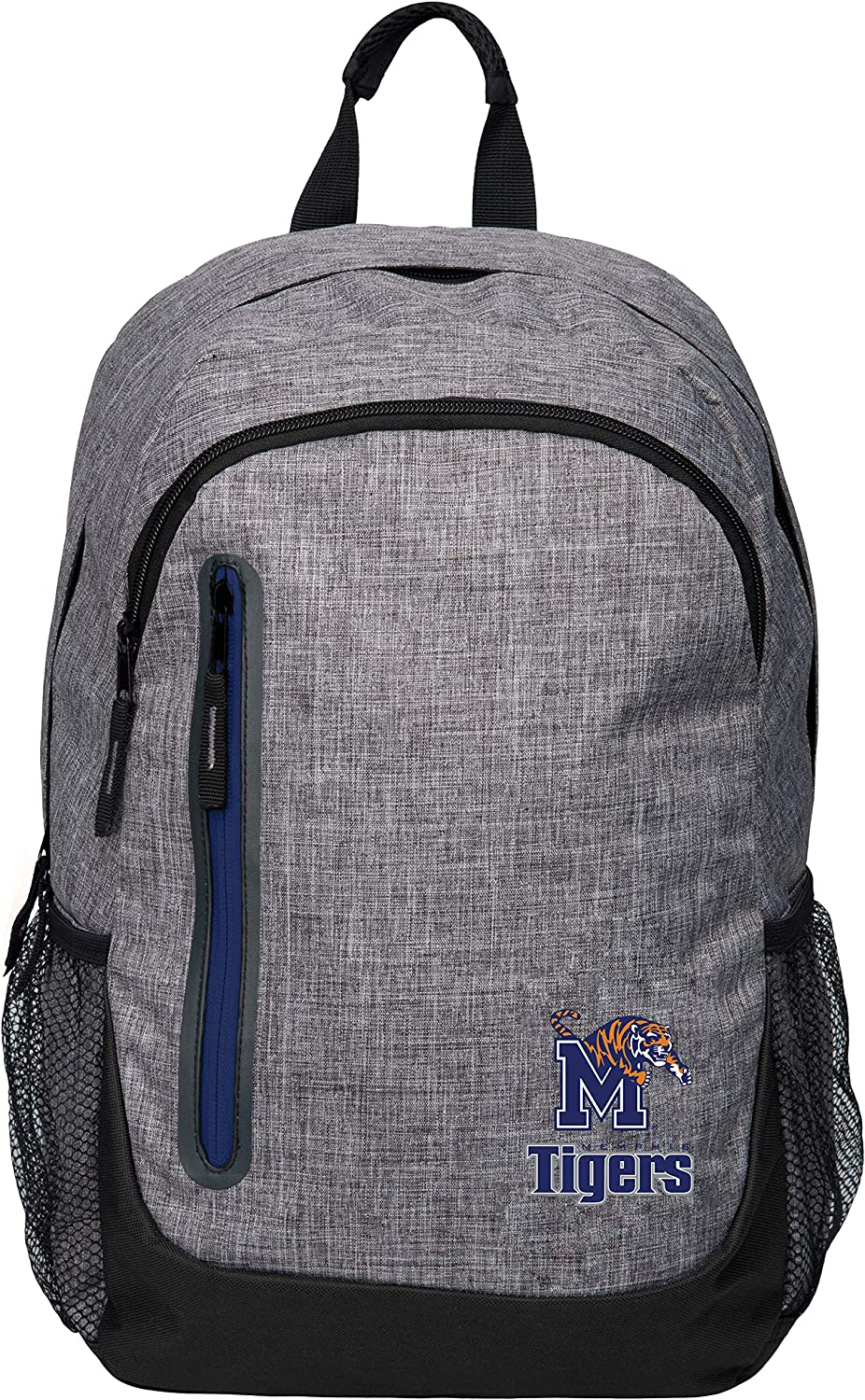 security FOCO NCAA free Memphis Tigers Heather Grey Bold Color Backpackheather