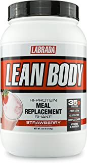 Labrada Nutrition Lean Body Hi-Protein Meal Replacement Shake, Strawberry, 2.47-Pound