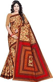 Women's Pure Cotton Saree With Blouse Piece (1444, Beige)