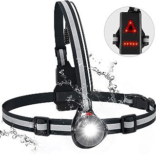 T98 LED ランニングライト チェストライト ジョギングライト 警告灯 270° 角度調整可能 3点灯モード IP6 防水 USB充電 アウトドアライト 防水防災 夜間照明 アウトドア ランニング ジョギング ハイキング適用