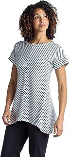 ExOfficio Women's Wanderlux Crossback Stripe Casual Short-Sleeve Shirt