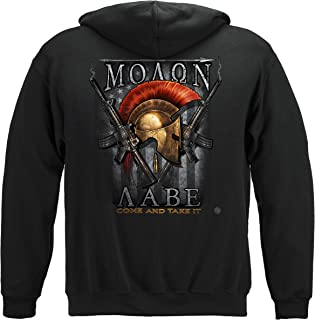 Erazor Bits 2nd Amendment Hooded Sweat Shirt 2nd Amendment Molon Labe