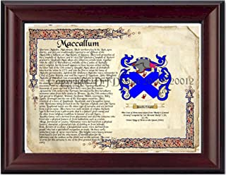 Maccallum Coat of Arms/ Family Crest on Fine Paper and Family History