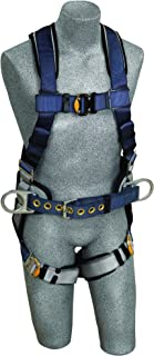 3M DBI-SALA ExoFit 1108500 Construction Harness, Back D-Ring, Sewn-In Back Pad & Belt w/Side D-Rings, Quick-Connect Buckles, Small, Blue/Gray