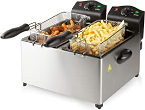 Domo, DO560FR friteuse, 18/8 roestvrij staal