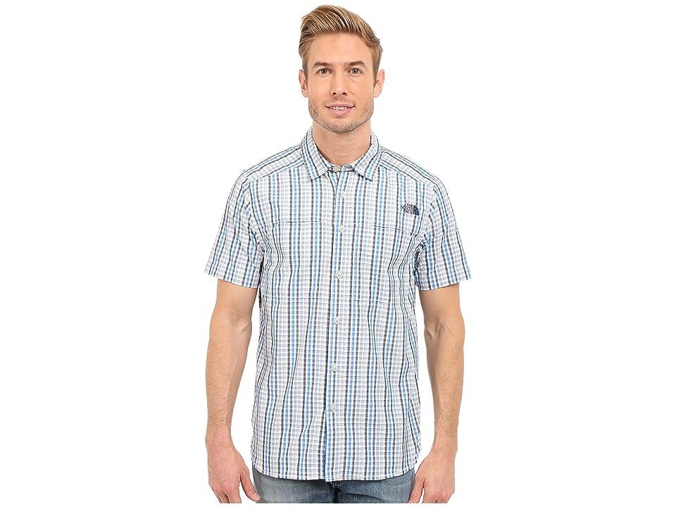 The North Face Short Sleeve Traverse Plaid Shirt (Cosmic Blue/Faded Denim Plaid (Prior Season)) Men