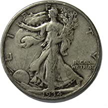 1934 P Walking Liberty Half Dollar 50c Very Fine