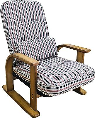 中居木工 肘付高座椅子 親思い NK-2220 赤縞