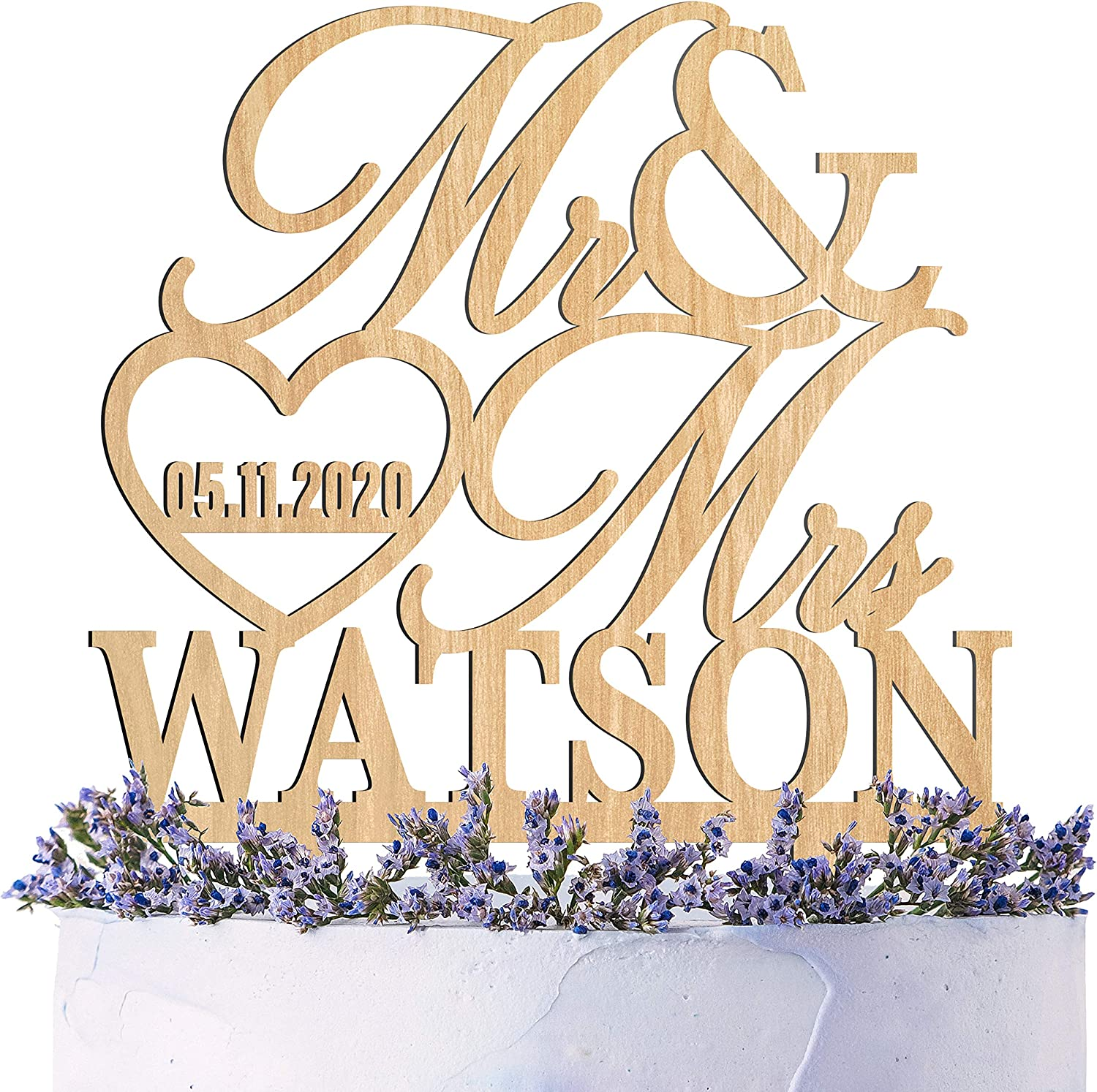 Wedding Cake Topper Personalized Mr. Mrs. New Rapid rise arrival Custom w