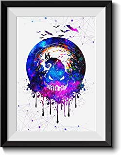 Uhomate Jack and Sally Nightmare Before Christmas Home Canvas Prints Wall Art Anniversary Gifts Baby Gift Inspirational Quotes Wall Decor Living Room Bedroom Bathroom Artwork C027 (8X10)