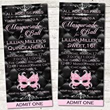 Masquerade Party Ticket Invitations, Masquerade Birthday Party Decor, Masquerade Sweet 16 Party Supplies, Masquerade Ball Invitations, Masquerade Quinceanera Invitations