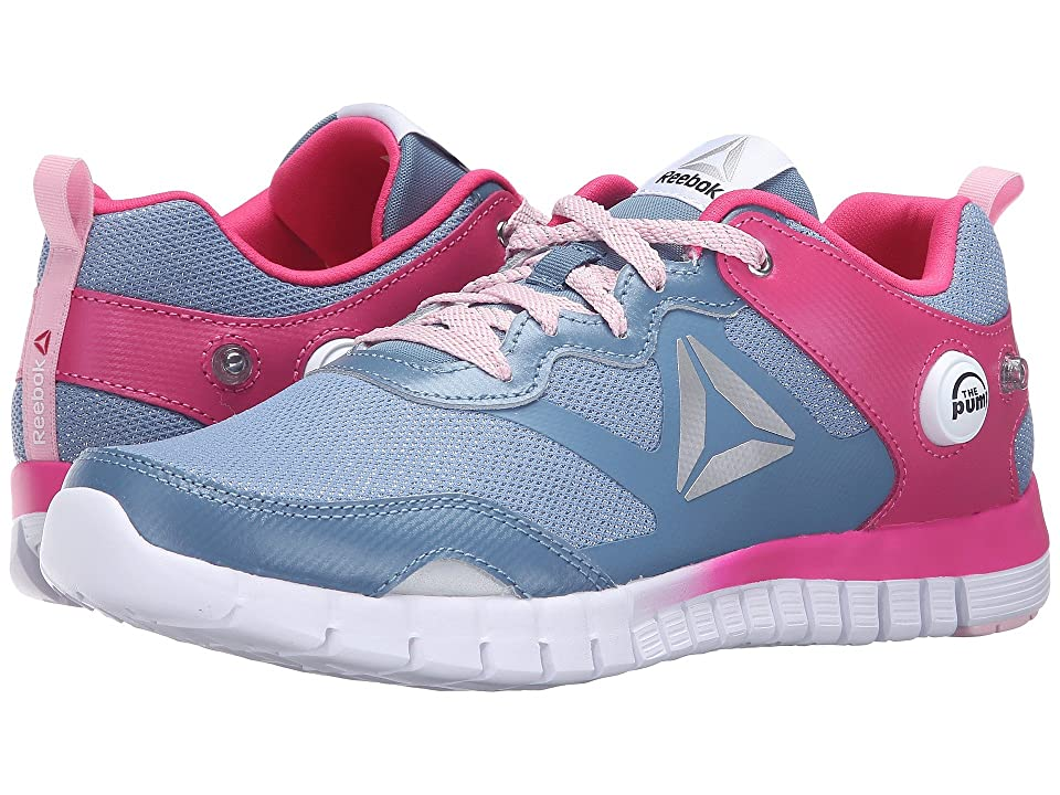 Reebok Kids ZPump Instinct WW (Big Kid) (Slate/Rose Rage/Luster Pink/White/Silver) Girls Shoes