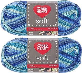 Bulk Buy: Red Heart Soft Yarn E728.9983 (2-Pack) (Seaglass)