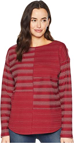 Metro Jacquard Long Sleeve Knit