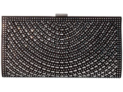 Jessica McClintock Jackie Frame Clutch (Black) Handbags