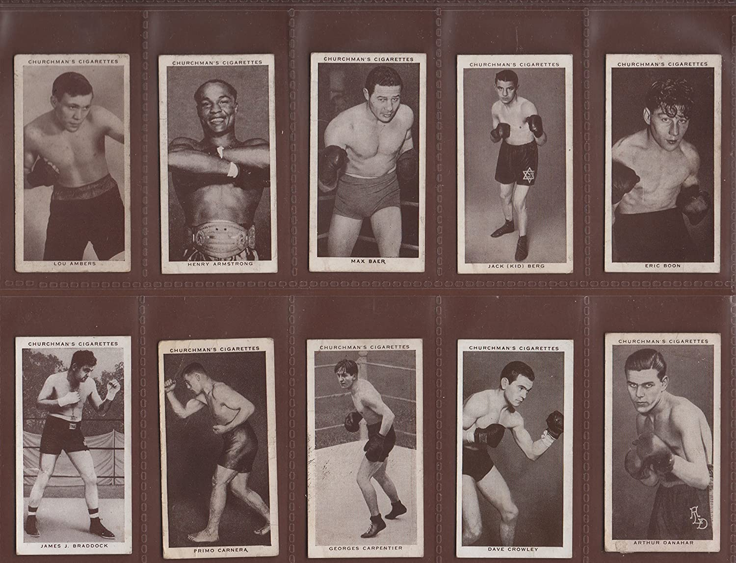 AZ13  FULL Original cigarette card set  Boxing Personalities  Churchmans