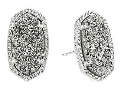 Kendra Scott Ellie Earring (Rhodium/Platinum Drusy) Earring