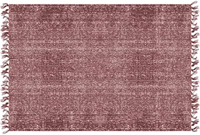 PT Living Carpet Washed Cotton Rectangle Warm Red
