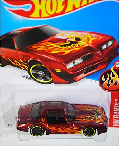 Hot Wheels, 2016 HW Flames, '77 Pontiac Firebird [rot]  93 250 by Mattel