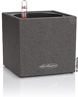 Lechuza 13472 Canto Stone Cube Planter, graphine Black