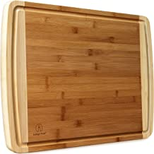 Extra Large Bamboo Cutting Boards for Kitchen with Juice Groove - 17.5 x 13.5 inch