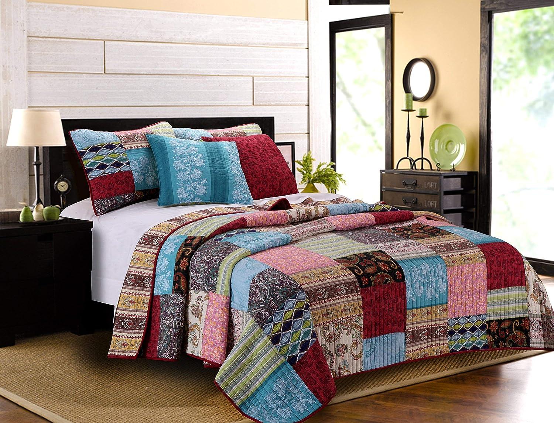 Greenland Home Bohemian Dream Quilt Set, King California King, Multi