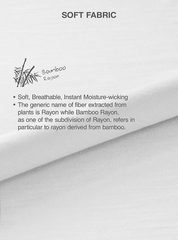 Genuwin Camisetas Interiores para Hombre, Pack de 3 | Negro, Blanco | Talla S, M, L, XL