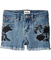 Rose Embellished Shorts in Crown Blue (Toddler/Little Kids)