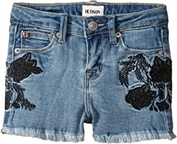 Rose Embellished Shorts in Crown Blue (Toddler/Little Kids)