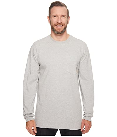 Timberland PRO Big Tall Base Plate Blended Long Sleeve T-Shirt (Light Grey Heather) Men