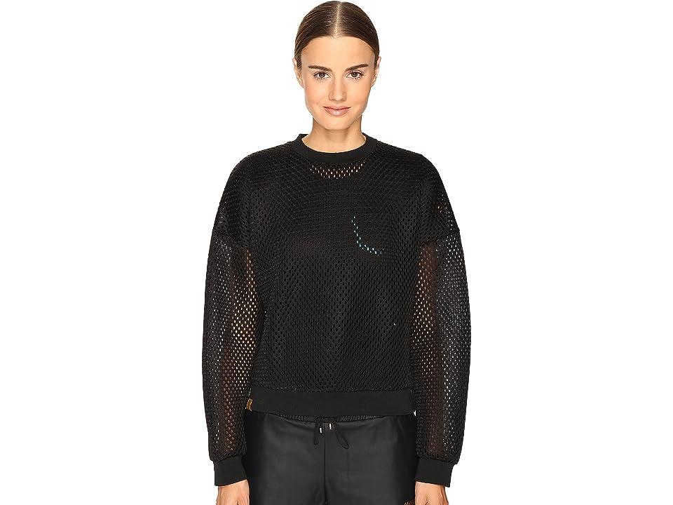 Monreal London Cropped Sweatshirt (Black/Acid) Women