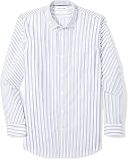 Men's Slim-Fit Wrinkle-Resistant Long-Sleeve Dress Shirt