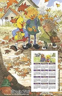 2018 Suzy's Zoo Calendar Refrigerator Magnet