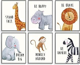 Safari Baby Animals, Baby Nursery Decor, Baby Room Decor, Playroom Wall Art Decor Prints, Boys & Girls Room, Kids Bedroom ...
