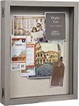 Everly Hart Collection 11x14 Distressed Gray Picture Frame Display Shadow Boxes, Grey