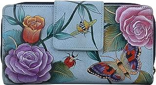Anuschka Hand Painted Leather  Women's Organizer Clutch Wallet