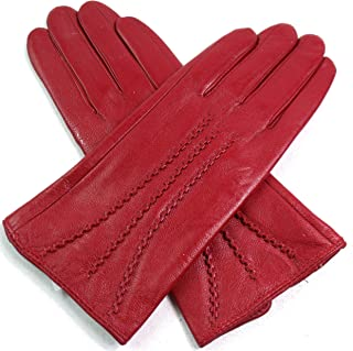 7ae5665bcb8d4 femmes Qualité Premium super doux gants cuir doublure fausse fourrure  RAYURE détail slim fit