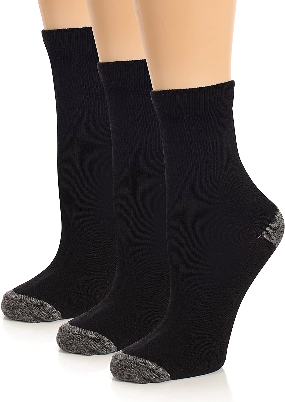 Boys Socks - Boys Dress Socks - Kids Socks - Youth Fashion Cotton Solid Crew Socks - 3 and 6 Pack - by Topfit