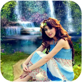 Waterfall HD Photo Background Frame Editor