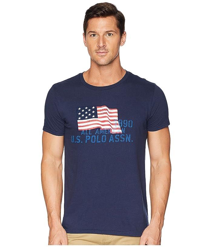U.S. POLO ASSN. USPA Flag Chest Crew Tee