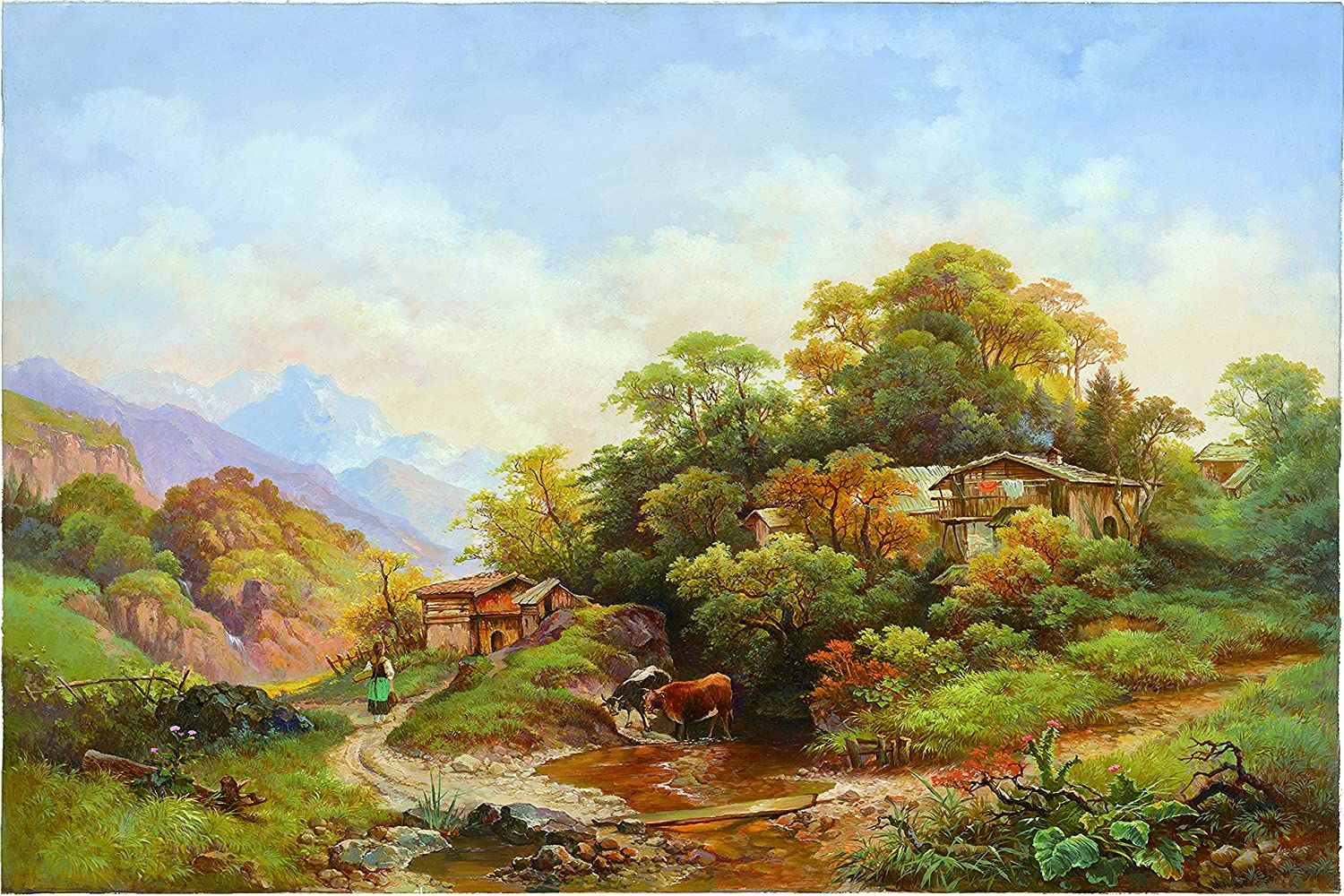 ZFRXIGN Landscape Challenge the lowest price of Japan ☆ hut Inkjet Wall Painting Suitab Art Ranking TOP5 Decoration