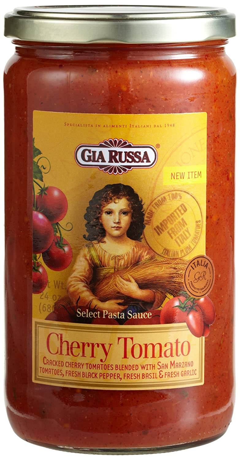 Gia Inexpensive Sale item Russa Cherry Tomato Pasta Sauce 24-Ounce Pack Jars Glass o