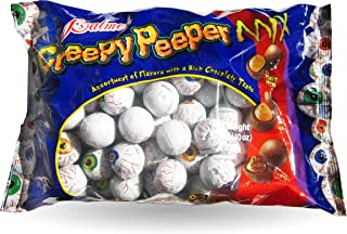 Palmer Creepy Peeper Mix Big 2.5 Lb Bag. (Fudge, Caramel, Peanut Butter) Eyeballs wrapped in Foil - Perfect for Halloween Snack Bowls!