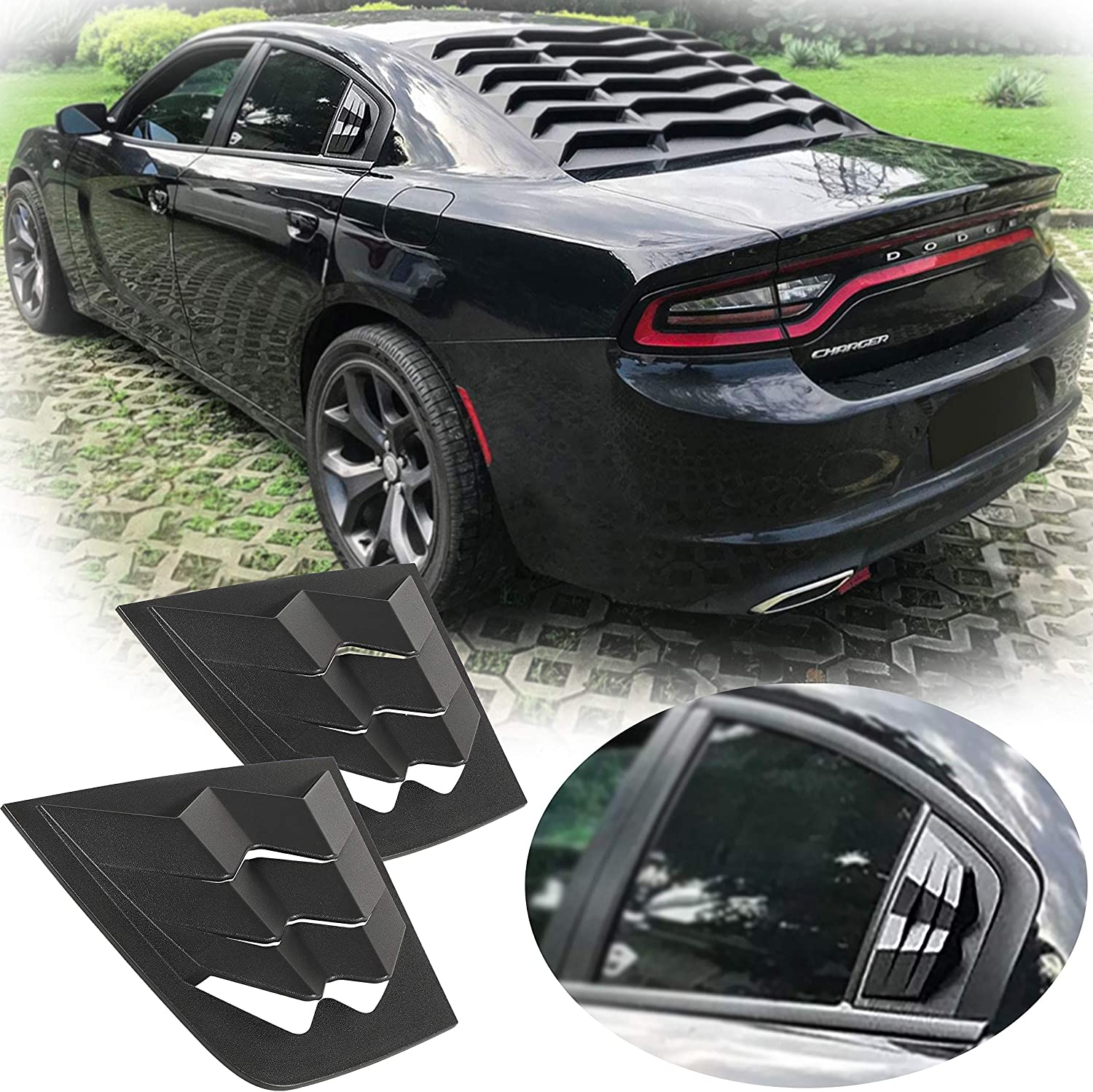 EnRand Max 61% OFF Side Window sale Louvers Windshield Shade Sun Cover Dodge for