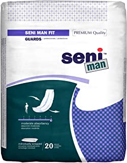 Seni Man Incontinence Guards, Maximum, Fit, 20 Count (Pack of 8)