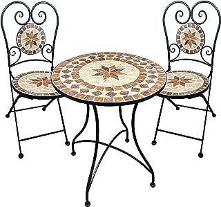 Muebles de jardín Mesa de Mosaico 2 sillas Mesa y sillas
