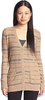 Cashmere Addiction Suéter cárdigan de Cuadros para Mujer
