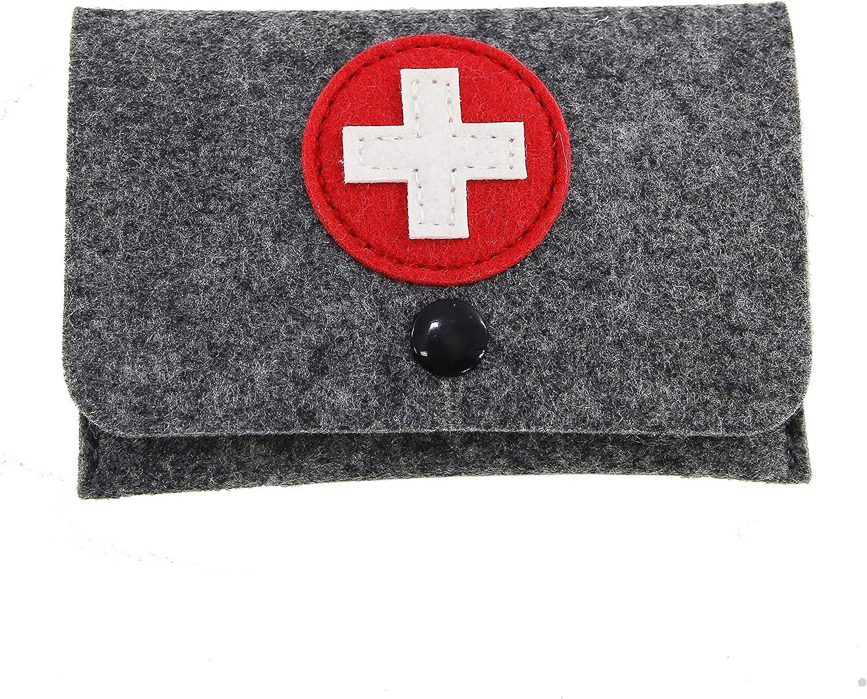 stil-macher Estuche de tiritas con tiritas de fieltro para maletín de médico, bolsa de médico, 3 unidades, para botiquín de casa, bolsa de emergencia, ...