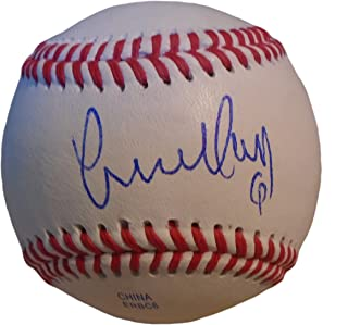 Los Angeles Angels Yunel Escobar Autographed Hand Signed Baseball with Proof Photo of Signing, Toronto Blue Jays, Atlanta Braves, Washington Nationals, Tampa Bay Rays, COA